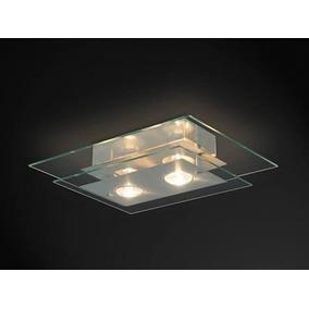 Lustre Sala Quarto Para 2 Lampadas Transparente 50x30