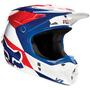 Capacete Fox V1 Mako 16 Azul/branco 57/58 Rs1