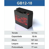 Bateria 12v 18ah Auxiliar De Partida 4 Em 1 Multilaser Au602