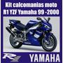 Kit Completo Calcomanias Moto R1 Yzf Yamaha Año 99 Al 2000