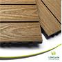 Baldosa Deck Ecológico Libre De Mantenimiento - Color Teca