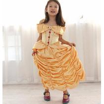Vestido Fantasia Princesa A Bela Ea Fera Carnaval Fretegrati