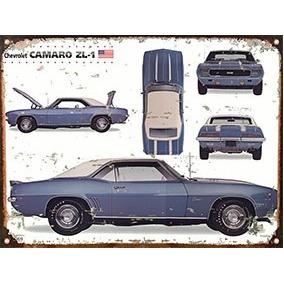 Cartel Chapa Publicidad Chevrolet Camaro 1969 A037 30x40cm
