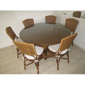 Mesa De Jantar C 6 Cadeiras + Aparador Armando Cerello