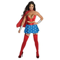 Disfraz Mujer Maravilla Sexy Halloween Adulto Super Heroe