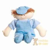 Boneco Pano Tecido Menino Dani Quarto Bebê E Infantil