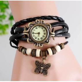 Reloj Pulsera Cuero Moda Estilo Vintage