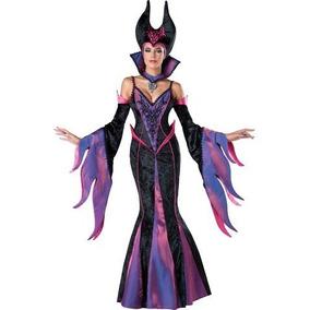 Disfraz Mujer Malefica Halloween Adulto Hechicera Bruja