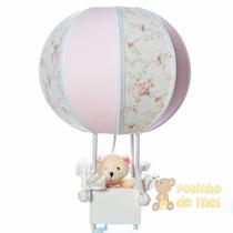 Abajur/ Luminária Balão Ursa Menina Quarto Bebê E Infantil