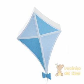 Lustre Teto Pendente Pipa Azul Menino Quarto Bebê Infantil