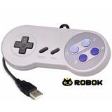 Usb Super Nintendo Morado Control Joystick Pc Mac - Robok Cl