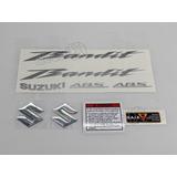 Kit Jogo Faixa Emblema Adesivo Suzuki Bandit 650n 2011 Preta