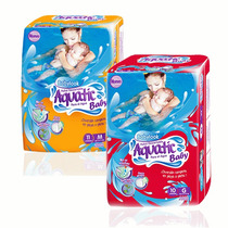 Pañales De Agua Para Pileta Babylook Aquatic Baby 2 Tamaños