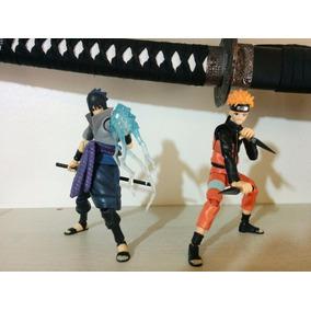 Action Figure Naruto Uzumaki + Sasuke Articulado Importado