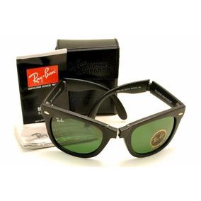 Óculos De Sol Ray-ban Dobravel Lentes Verde Ou Espelhada Azu