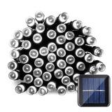 Serie Navideña Solar 100 Led Luz Blanca Fria 12 Mts Exterior