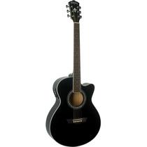Washburn Guitarra Electro Acustica Negro Modelo Eat12
