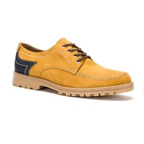 Zapato Hombre Casual Amarillo De Piel Ferrato 2394985