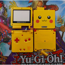 Carcasa Game Boy Advance Sp Gba Sp Amarilla Pikachu