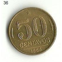 Moeda De 50 Centavos 1954 Usada