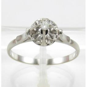 Esfinge Jóias - Solitário Diamante 5 Pontos Aro18 Ouro 18k