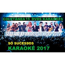 15 Dvds Karaokê 2017 2015 Musicas Pop Rock,sertanejo Mpb,