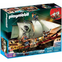Brinquedo Playmobil Pirata Navio De Ataque Pirata 5135