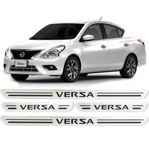 Soleira De Porta Resinada Nissan Versa 12 13 2014/.. Prata