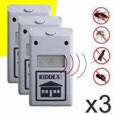 3 Repelente Electronico Riddex Plus Para Insectos Y Roedores