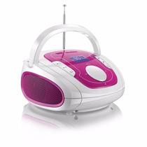 Caixa De Som Boombox Bluetooth Som 5 Em 1 Rosa/branca Sp187