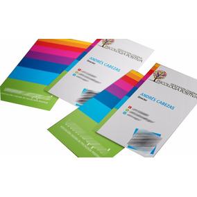 Mil Tarjetas De Presentación Sulfatada Color Ambos Lados 4x4