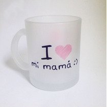 Taza Cristal Personalizada Regalo Recuerdo Mama Love 10 Mayo