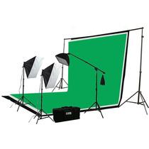 Promoción Kit Profesional Fondo Verde Fotografía Iluminación