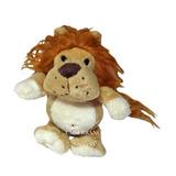 4 Bichinhos Pelúcia Safari Leão Macaco Onça Tigre 16 Cm