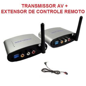 Transmissor Audio E Video Sem Fio + Extensor Controle Remoto