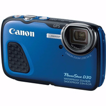 Câmera Digital Canon Powershot D30 12.1 Mp Prova D