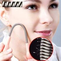 Depilação Facial Com Mola Inox E Navalha Muito Fácil Prático