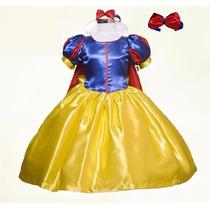 Vestido / Disfraz De Princesa Blancanieves Tallas 2 A 8