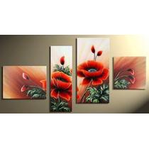 Cuadros Florales Dipticos Tripticos Modernos, Pintados