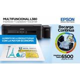Impresora Epson L380 Recarga Continua + Resma De Papel