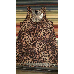H&m-musculosa Larga-animal Print-xs/s-recien Llegada De Usa!