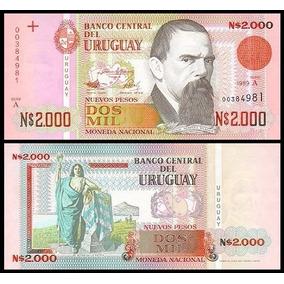 Uruguay Uruguai P-68 Fe 2.000 Nuevos Pesos 1989 * C O L*
