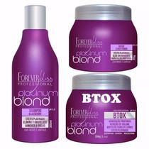 Forever Liss Kit Matizador Btox Mask Shampoo Platinum Blond
