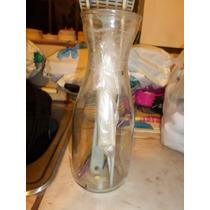 Frasco De Vino Tinto Vacio Cristalino Sin Tapa Alto 24 Cm