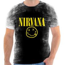Camiseta, Camisa Nirvana Kurt Cobain Banda De Rock 2