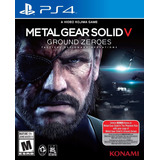 Metal Gear Solid V Ground Zeroes Para Ps4 Nuevo Sellado