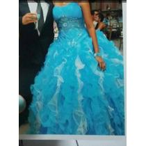 Vestido De 15 Años Azul Turquesa
