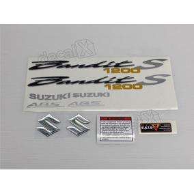 Jogo Faixa Emblema Adesivo Suzuki Bandit 1200s 2008 Preta