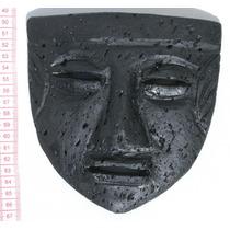 Mascara En Piedra Vulcanica Negra Arte Pre-colombino Ecuador