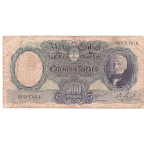 Billete 500 Pesos - San Martin Anciano - Bottero 2123